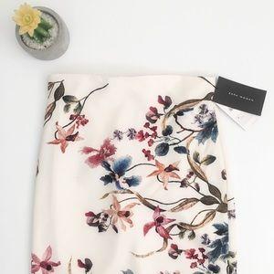 NWT Zara Floral Midi Pencil Skirt